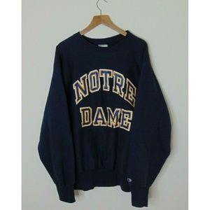 Champion Reverse Weave Xl Notre Dame Sweatshirt